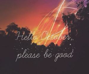 october, month, and welcome image