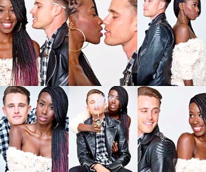 black and white, couples, and black girl image