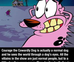courage the cowardly dog, dog, and courage image
