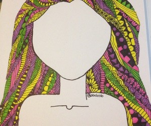 drawing, tangled, and colors image