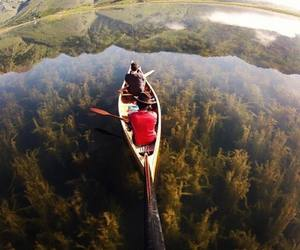 lake, nature, and adventure image
