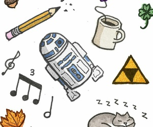 cat, music, and r2d2 image