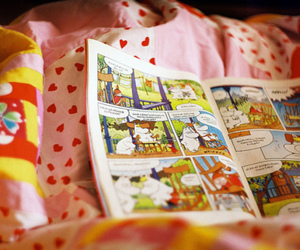 colorful, comic book, and moomin image