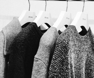 fashion, grey, and sweater image