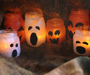 Halloween, candle, and fall image