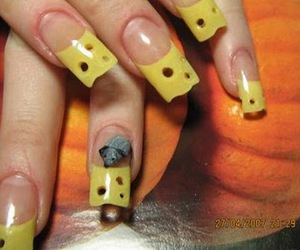 nails, cheese, and cool image