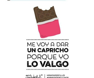capricho, chocolate, and Dar image