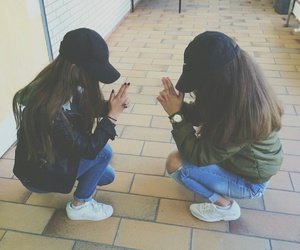 friends, girl, and adidas image