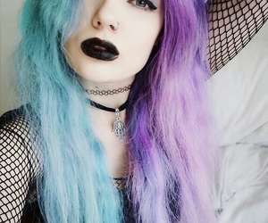 goth, pastel goth, and black image
