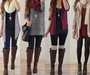 autumn, autumn outfit, and boots image
