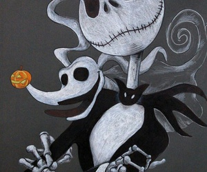 jack skellington, nightmare before christmas, and zero image