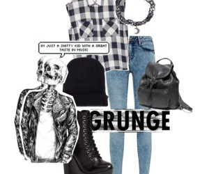 grunge, grunge style, and grunge outfit image