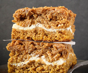 bars, pumpkin spice, and cake image