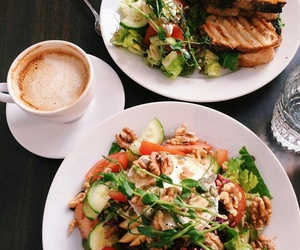 food, coffee, and salad image