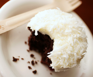 food, coconut, and cupcake image