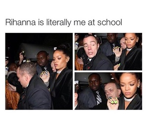 funny, rihanna, and school image