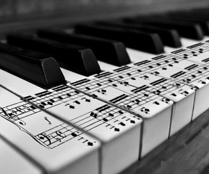 music, piano, and notes image