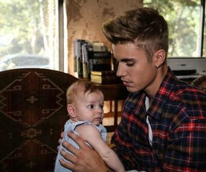 justin bieber, baby, and handsome image