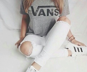 clothes, vans, and girl image