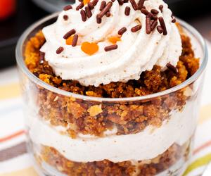 desserts, food, and parfait image