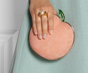 fashion, peach, and bag image