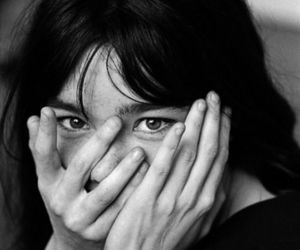 bjork, black and white, and woman image
