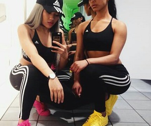 adidas, friends, and pink image