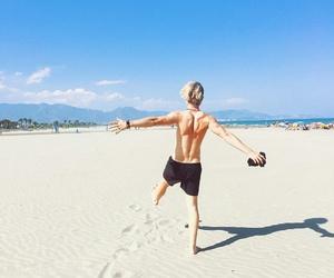 beach, boy, and benjamin peltonen image