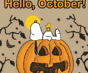 october, snoopy, and Halloween image
