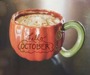 october, coffee, and autumn image