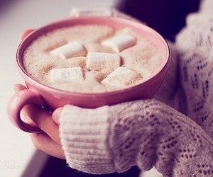 winter, marshmallow, and chocolate image
