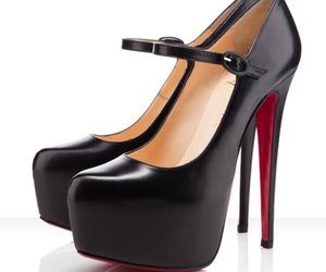 shoes, black, and christian louboutin image