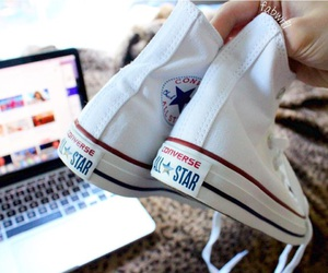 apple, bed, and converse image