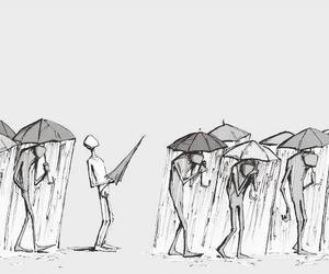 rain, umbrella, and quotes image