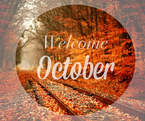 october, welcome, and autumn image