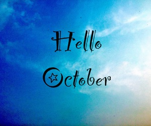autumn, blue, and hello image