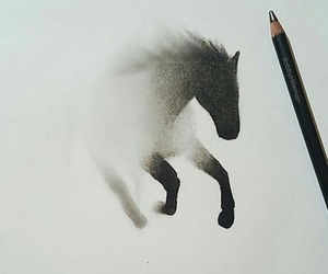 drawing, draw, and horse image
