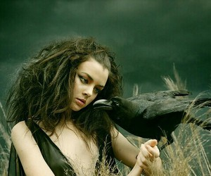 fantasy, raven, and witch image