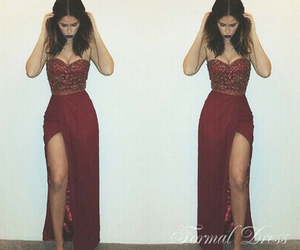 dress, red, and pretty image
