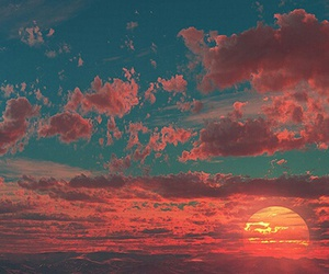 sun, sky, and sunset image