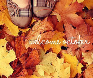 october, autumn, and leaves image