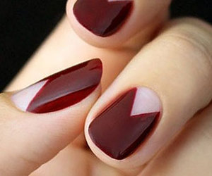 nails, red, and triangle image