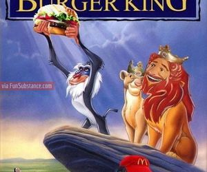 funny, burger king, and disney image