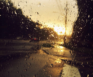 fall and raining image