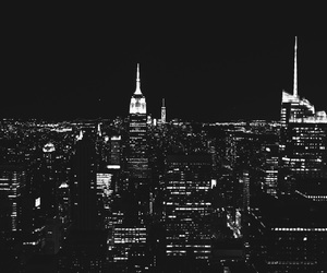 b&w, beautiful, and empire state image