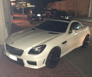 car, white, and mercedes image