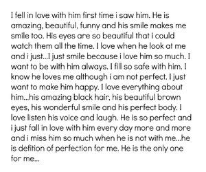 boy, i love him, and girl image