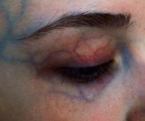 eye, veins, and grunge image