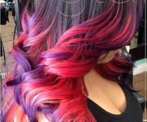 color, fashion, and hair image