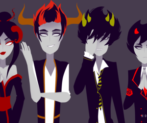 homestuck, kankri, and mituna image